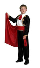 BOYS MATADOR BULL FIGHTER MAN SPANISH FANCY DRESS COSTUME OUTFIT & RED CAPE NEW