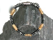 Men's Magnetic Hematite Picture Jasper Bracelet Anklet Necklace Powerful Therapy