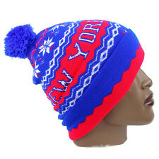 Streetwear New York NY Aztec Print Pom Pom Ski Beanie Hat Hip Is Hop Money Time
