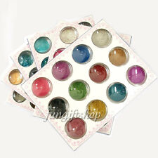 12 Color 3D Decoration Nail Art Tip Glitter Beads Powder Shell for Gel Polish