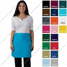 DayStar 115 Premium Quality Two Patch Pocket Half Bistro Apron - Made In USA