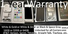 NEW Unlocked iPhone 5S 16GB 32GB Black Gold White TMobile Straight Talk Tracfone