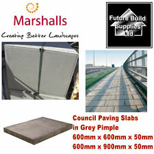 Concrete Council Paving Slabs 600mm x 600mm x 50mm or 600mm x 900mm x 50mm Grey