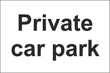 Private Car Park Sign 300x200mm Rigid Plastic,Self Adhesive