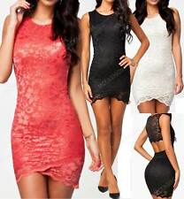 New Sexy Open Back Short Mini Lace Club Wear Party Night Out Dress