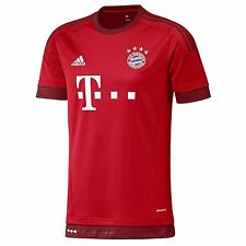 Adidas FC Bayern Munich Home Jersey 2015 2016 Mens True Red Football Soccer