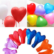 "100pcs 10"" Color Heart Shaped Latex Balloons Wedding Birthday Party Decoration"