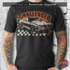 CLASSIC DODGE CHALLENGER T-SHIRT  | MEN'S AMERICAN APPAREL | MUSCLE CAR | V8 |