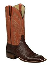 Lucchese H2016 W8 Mens Brown Caiman Crocodile Leather Western Cowboy Boots