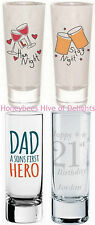 PERSONALISED Engraved Shot Glass For Him Her BIRTHDAY Party BAGS Keesake Ideas