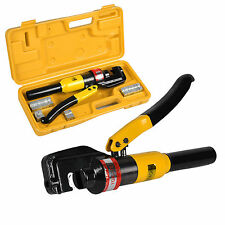 8 Ton Hydraulic Cable Crimper Wire Crimping Tool Kit 4mm-70mm 9 Die