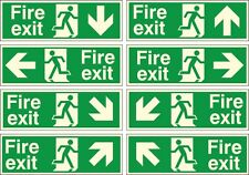 R/P Photoluminescent Fire Exit Directional Arrow Sign, 400x150mm Or 300x100mm
