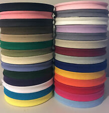 16MM (5/8 inch) x 33 Meter FULL REEL COTTON BIAS BINDING TAPE~VARIOUS COLOURS~