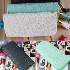 New Fashion Women/Lady Print Long clutch Purse/Wallet Synthetic Leather Zipper