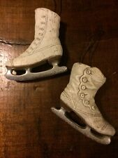 PAIR OF ICE SKATE ORNAMENTS PRIMITIVE COUNTRY DECOR ~ ICE SKATE~ORNAMENT~RUSTIC