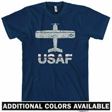 Fly USAF Air Force T-shirt - Jet Fighter Pilot Airplane Military USA - Men S-4XL
