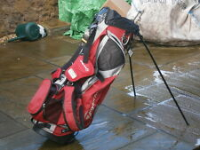 TAYLOR MADE GOLF STAND/CARRY BAG IN BLACK,SILVER AND RED