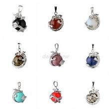 Chic Chinese Dragon Wrap Ball Bead Gemstone Natural Stone Pendants For Necklace
