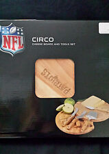 NEW NFL Cowbooys, Patriots, Packers Circo Cheese Board/Tool Set, 10-Inch