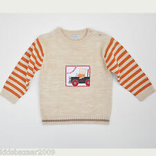 BNWT Kiabi Baby Beige Cotton Knit Sweater Size 12M/18M/2/3
