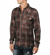 AFFLICTION BLACK PREMIUM Definitive Shirt M XL 110WV039 Red Black Plaid NWT $98