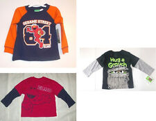 Sesame Street Toddler Boys Long Sleeve T-Shirts Elmo or Grouch Sizes 3T 4T NWT