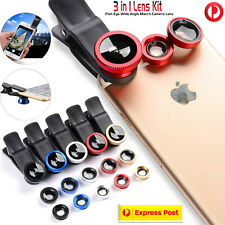 3 in 1 Fish Eye Macro & Wide Angle Clip Camera Lens Kit For Tablet PC Smartphone