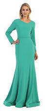 TheDressOutlet Long Sleeve Open Back Formal Sexy Stretchy Formal Dress