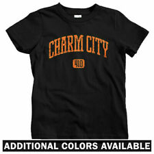 Charm City 410 Baltimore Kids T-shirt - Baby Toddler Youth Tee - Wire B'more MD