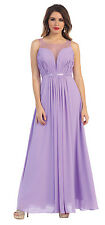 2016 Summer Bridesmaids Long Pleated Chiffon Cheap Formal Dress