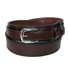 New CTM Men's Big & Tall Leather Removable Buckle Ranger Belt