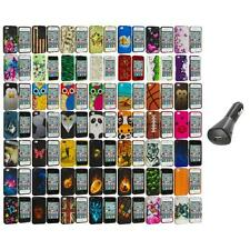 Design Hard Rubberized Color Snap-On Case Cover+Car Charger for iPhone 4 4S 4G