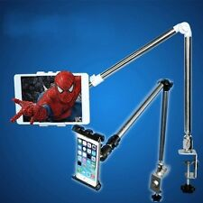 360°Portable Rotating Bed Desk Stand Mount Holder Fr iPhone & iPad Tablet Adjust