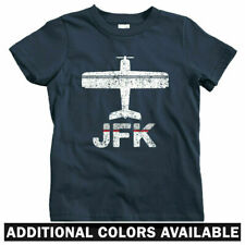 Fly New York JFK Airport Kids T-shirt - Baby Toddler Youth Tee - City NYC Gift