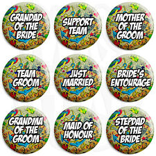 Tattoo Wedding - Various Designs - 25mm Button Badge with Fridge Magnet Option
