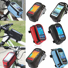 Mobile Phone Cycling BIKE BICYCLE Frame Pannier Bag Front Tube Case Pouch Sports
