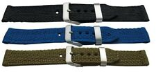 Quality Tough Woven Nylon Military watch strap black green blue 18mm 20mm width