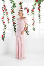 Long Evening Formal Dress Ruched Short Sleeve Plus Size Bridesmaids
