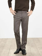 Brand New Banana Republic Modern Slim Taupe Flannel Wool Dress Pant Size 36x34