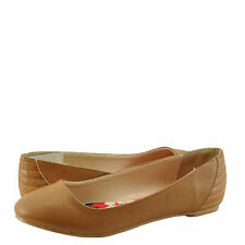 Women's Shoes Qupid Ritzy 21 Classic Career Ballet Flats Camel *New*
