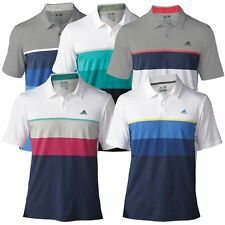 *NEW FOR 2016* Adidas Golf Mens ClimaCool Engineered Striped Golf Polo Shirt