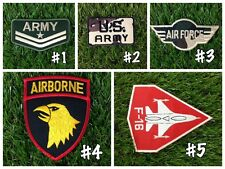 Aufnäher Iron on Military Navy Army Insignia Fabric Sew Patch Badge USAF Air Jet