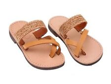 Ancient Greek Style Toddler Leather Baby Sandals Flip Flops Shoes Kids Girls