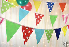 Multi coloured spots & stripes bunting, ideal party, wedding, baby shower,