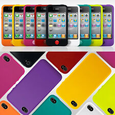 iPhone 4s 4 Soft Silicone Rubber Home Button Case Cover Skin