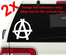 2x Anarchy Logo Symbol *Pick Color & Size* Die Cut Vinyl Stickers Decals #a1354