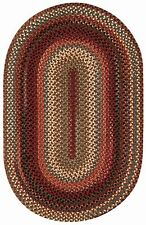 Capel Rugs Portland Wool Casual Country Braided Oval Throw Rug Mocha #700