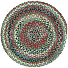 Capel Rugs St.Johnsbury Wool Braided Country Casual Round Rug Colony Blue