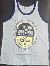 Mens Tank Top Chang Beer Singlet T-Shirt Sport Gym Fitness Running Grey M L XL
