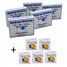 Disposable *Flushable* Paper Toilet Seat Covers + *Free Wet Wipes*___UK seller__